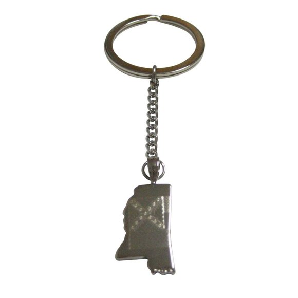 Kiola Designs Other - Mississippi State Map Shape and Flag Keychain